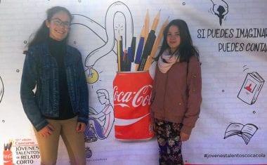 Dos alumnas del Infanta Elena de Jumilla participaron en la Final del Concurso Coca-Cola Jóvenes Talentos de Relato Corto