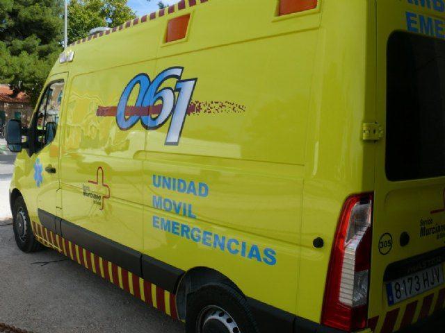Servicios de emergencias atienden a dos heridos en accidente de tráfico en Jumilla