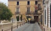 Retiran la estructura metálica de la fachada de la 'Casa Amarilla'