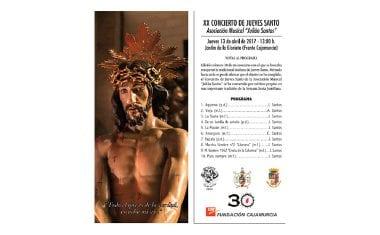 Pasado mañana la Asociación Julián Santos ofrecerá el Concierto número 20 de Jueves Santo