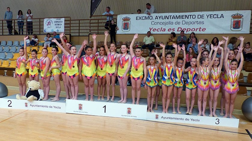 Primer podio para la Escuela de Gimnasia Rítmica de Jumilla