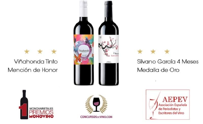 Dos vinos de Bodegas Silvano García galardonados en el primer concurso internacional de vinos monovarietales MONOVINO 2017