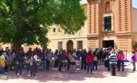 La Asociación de Tambores Cristo de la Sangre participó ayer en una Eucaristía de acción en el Convento de Santa Ana