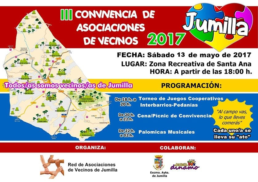 El Sábado de Romería tendrá lugar en Santa Ana el III Encuentro de Asociaciones de Vecinos de Jumilla