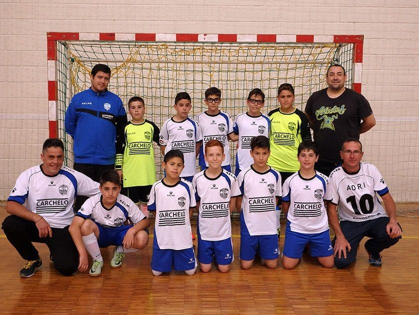 El equipo alevín de la Escuela de Fútbol Sala Jumilla Carchelo no tuvo rival