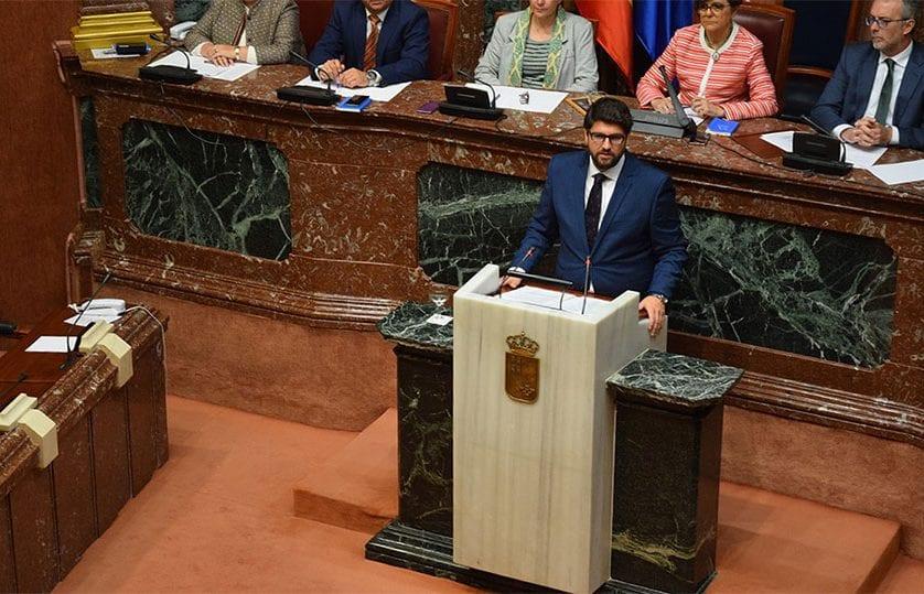 Fernando López Miras, elegido presidente de la Región de Murcia