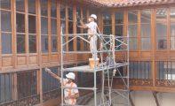 Han comenzado las obras de rehabilitación del patio y la entrada del Ayuntamiento