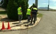 Roban cable de fibra óptica y del alumbrado público en Pueblo Nuevo