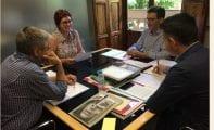 La alcaldesa retoma asuntos pendientes con el consejero de Fomento y el director general de Bienes Culturales