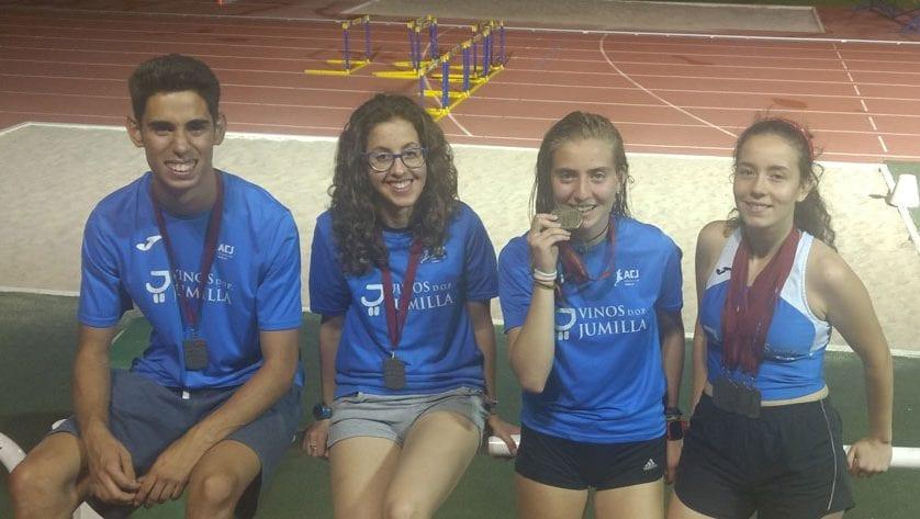 Ocho medallas para el Athletic Club Vinos DOP Jumilla en el Regional Junior y Promesas