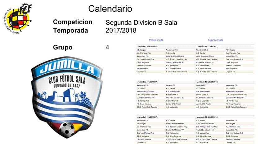 Calendario Liga Segunda.Ya Se Conoce El Calendario De Futbol Sala De Segunda Division B