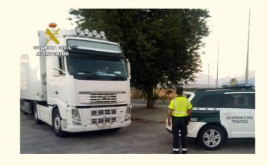 Detenido un camionero en Jumilla por conducir drogado