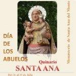 El próximo viernes comienza el Quinario dedicado a la Abuela Santa Ana