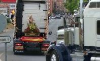 Primer fin de semana de actos de los transportistas en honor a San Cristóbal