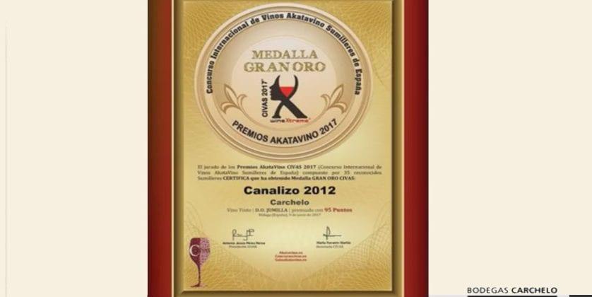 Bodegas Carchelo obtiene cuatro medallas en el Concurso Internacional de Vinos AkataVino