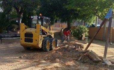 Han comenzado las obras de accesibilidad del Jardín de Gloria Fuertes