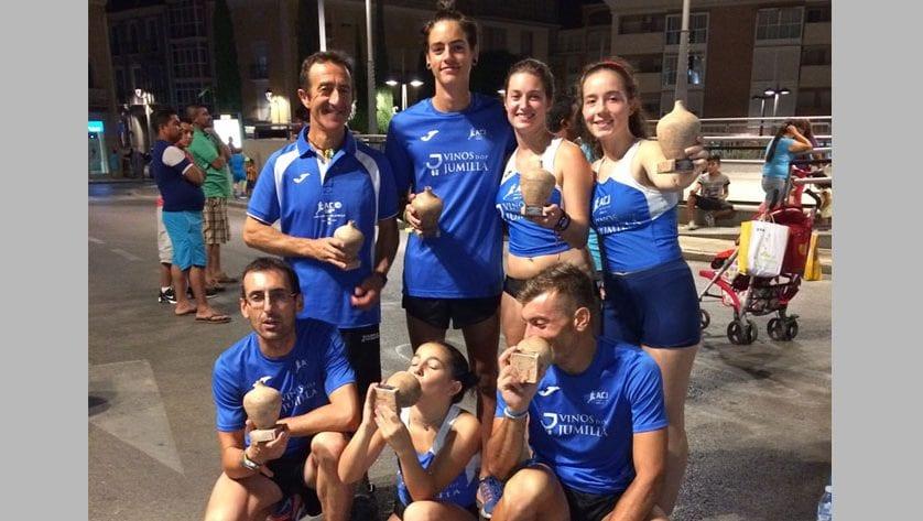 Ocho puestos de podium para el Athletic Club Vinos DOP Jumilla en la Popular de Totana