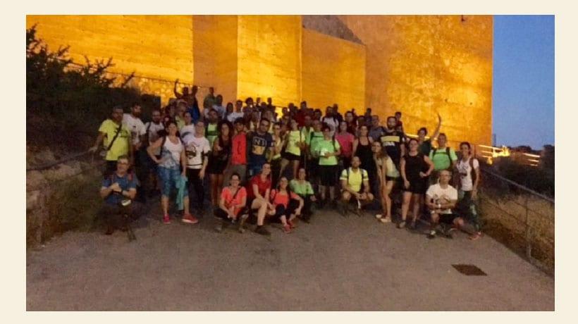 Setenta y cinco participantes disfrutaron de la V Ruta Nocturna Solidaria de San Antón