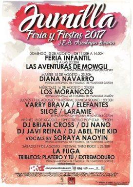 Actuaciones Feria y Fiestas Jumilla 2017