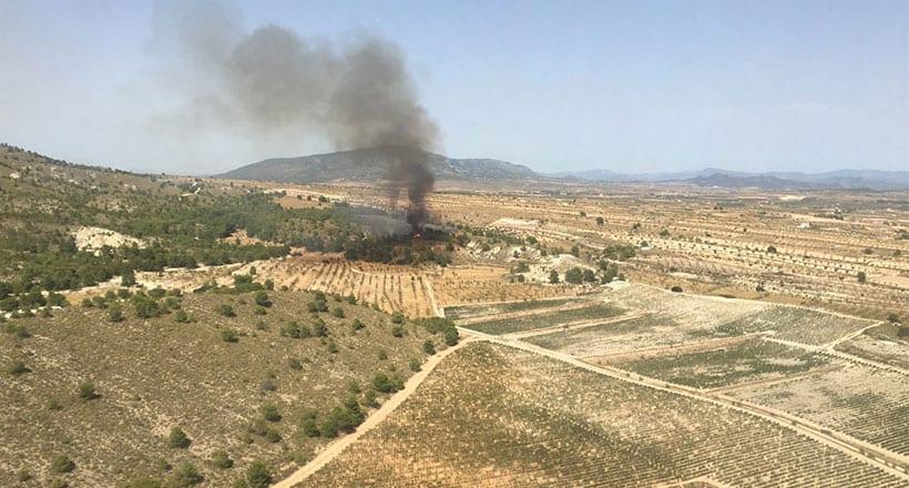 Se da por controlado un incendio forestal en la sierra de El Carche