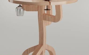 Una mesa para catas de vino inspirada en una cepa gana el 22º Concurso Internacional del Mueble