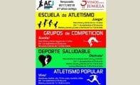 Abierto el plazo de inscripción en la Escuela de Atletismo, Deporte Saludable y resto de actividades del Athletic Club Jumilla
