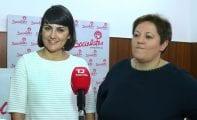 La candidata socialista María González vino ayer a pedir su apoyo a los militantes jumillanos