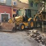Comienzan las obras de renovación de las aceras de la Plaza del Rollo