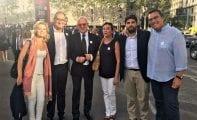 La presidenta del PP de Jumilla estuvo en las manifestaciones contra el terrorismo en Barcelona