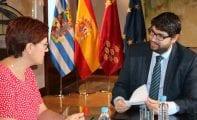 La alcaldesa de Jumilla se reúne con el presidente de la Comunidad Autónoma