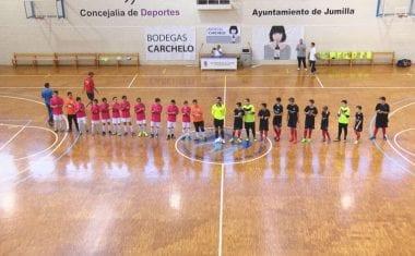 Los infantiles de la Escuela de Fútbol Sala Carchelo no pudieron con el conjunto de Alcantarilla