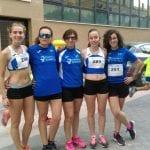Exhibición de fuerza de las chicas del Athletic Club en la XI Carrera Popular Ciudad de Yecla