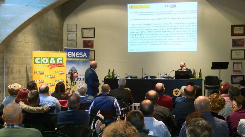 COAG realizó ayer en Jumilla una Jornada sobre el seguro agrario en los cultivos de fruta, viñedo, olivar y almendro