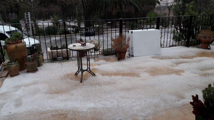 Lluvia y granizo en Jumilla