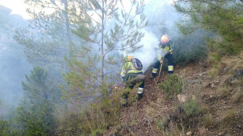 Sofocados dos conatos de incendio en Jumilla