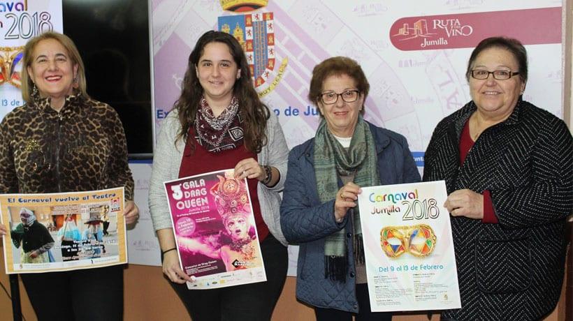 Festejos presenta el Carnaval 2018 que se celebrará del 9 al 13 de febrero