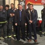 Simulacro de incendio en Jumilla dentro de la Semana de la prevención