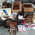 La Agencia Tributaria incauta en Jumilla 300 kilos de picadura de tabaco de contrabando