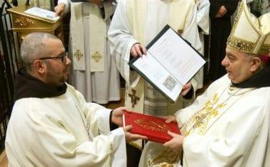 Momento histórico en Santa Ana con motivo de la ordenación de Diácono del hermano fray Miguel Antequera