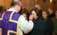 Comienza la Cuaresma con la imposición de la Ceniza y un Triduo en Santa Ana ante el Cristo Amarrado