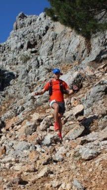 juan pedro molina durante su prueba maraton