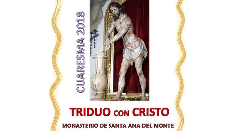 El próximo fin de semana tendrá lugar en Santa Ana un Triduo ante Cristo Amarrado
