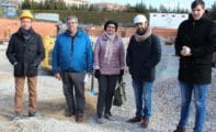 La alcaldesa y los concejales de Obras y Deportes visitan las obras de la nueva Piscina Olímpica