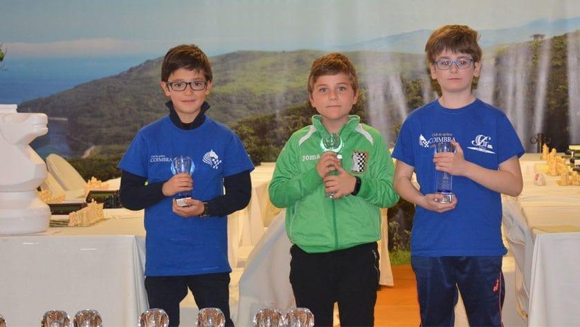 Dos puestos de podio para el Club de Ajedrez Coimbra en el Regional por Edades