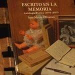 Ana María Olivares presenta su poemario 'Escrito en la memoria'