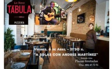 El cantautor jumillano Andrés Martínez actuará en 'La Bona Tábula'