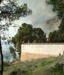 El incendio se encuentra muy próximo al Cementerio de Jumilla