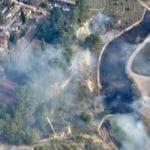 Efectivos del Plan Infomur salen a apagar un incendio en la ladera del castillo de Jumilla