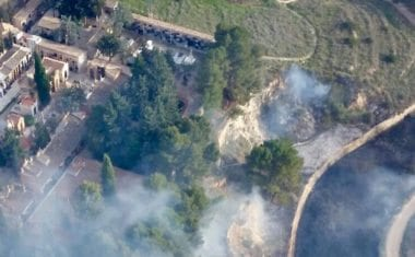 La Policía Local de Jumilla investiga si el incendio de ayer fue provocado