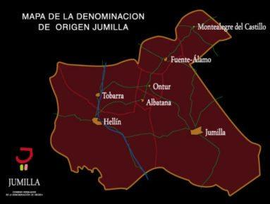 Mapa Denominacion Origen Protegida Vino Jumilla